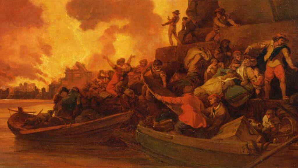 Η μεγάλη πυρκαγιά του Λονδίνου το 1212