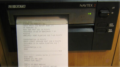 Δέκτης Navtex σε πλοίο