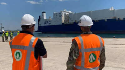 Το μεταγωγικό - οχηματαγωγό της εταιρίας ΑRC που έχει ναυλωθεί από τον Αμερικανικό στρατό για τη μεταφορά του στην Αλεξανδρούπολη 20/7/2020