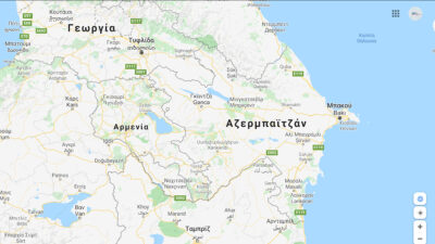 Χάρτης Αζερμπαϊτζάν- Αρμενία