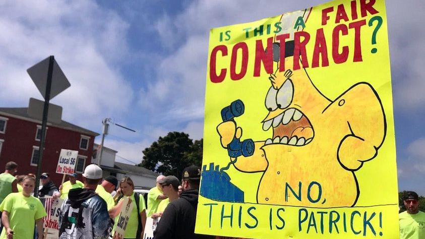 Απεργία μεταλλεργατών των Ναυπηγείων BIW της Πολιτείας του Μέιν, των ΗΠΑ - Ιούλιος 2020