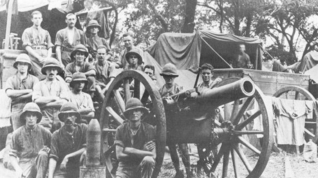 Βρετανικά στρατεύματα στην γερμανική Νοτιοδυτική Αφρική