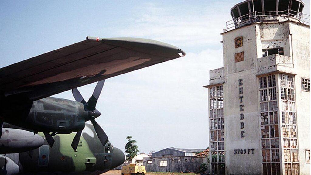 Ο πύργος ελέγχου του Έντεμπε μετά την επιχείρηση