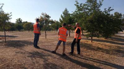 Εθελοντική πυροπροστασία από μέλη της ΚΝΕ στο πάρκο «Α. Τρίτσης»