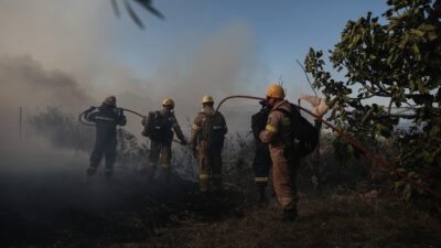 Από την πυρκαγιά στις Κεχριές Κορινθίας