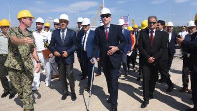 Από την επίσκεψη του Αμερικανού Πρέσβη Τζ. Πάιατ στο λιμάνι της Αλεξανδρούπολης- 13/09/19