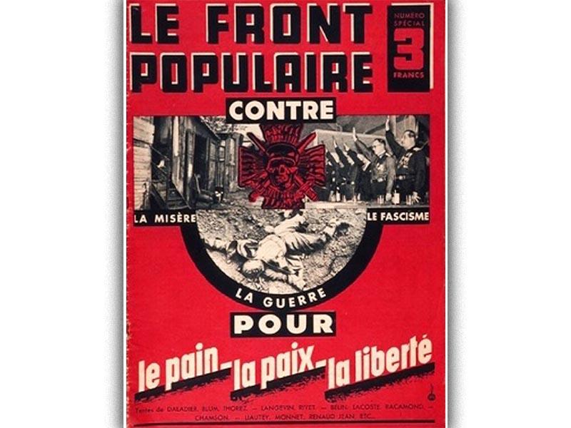 Αφίσα του «Λαϊκού Μετώπου»