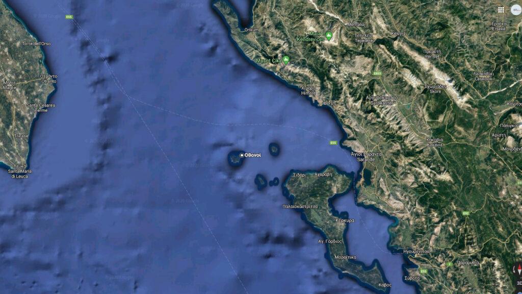 Οθωνοί - Χάρτης