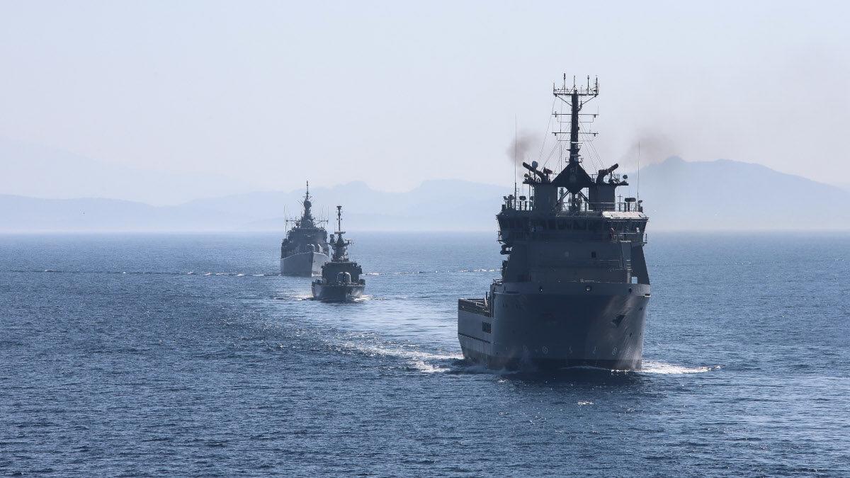 Άσκηση του Πολεμικού Ναυτικού- πλοίο