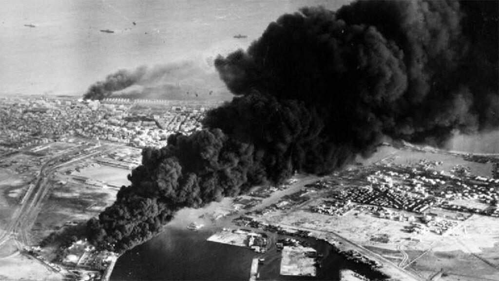 Το Πόρτ Σαιντ βομβαρδίζεται κατά την διάρκεια της ιμπεριαλιστικής επέμβασης