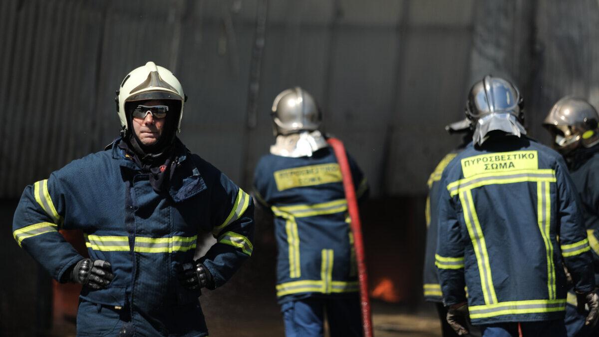 Πυρκαγιά σε εργοστάσιο στον Ασπρόπυργο 19/06/2020