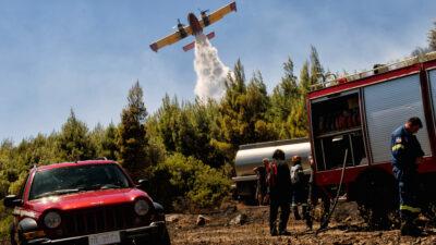 Πυρκαγιά σε Περαχώρα Λουτρακίου - 10-7-2020