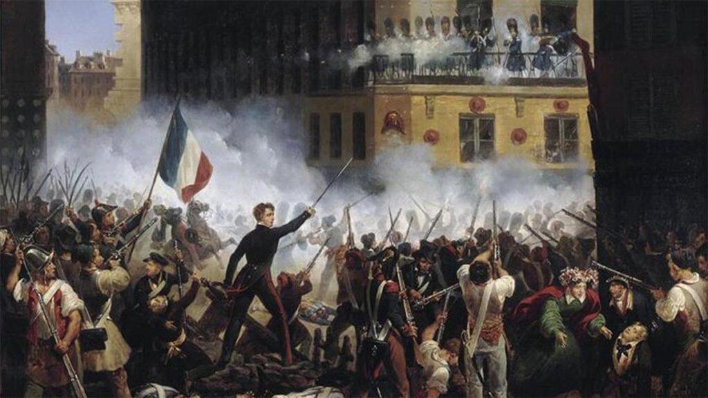 Πίνακας που απεικονίζει μάχη κατά την Ιουλιανή Επανάσταση