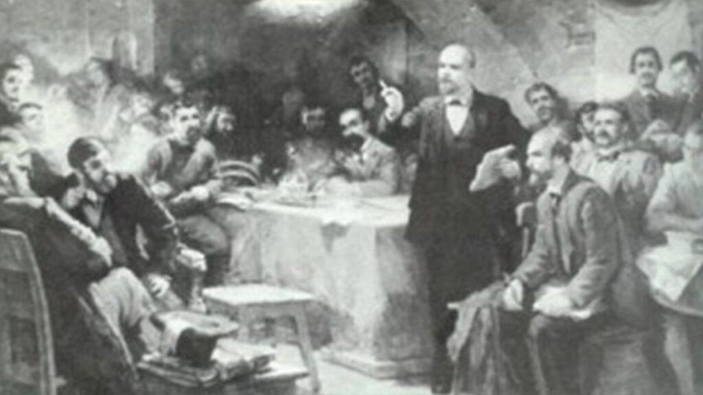 Ο Λένιν μιλά στο 2ο Συνέδριο του Ρωσικού Σοσιαλδημοκρατικού Εργατικού Κόμματος