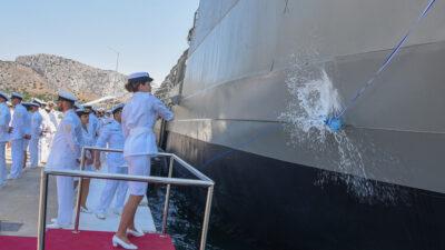 Τελετή ένταξης και βάπτισης του Πλοίου Γενικής Υποστήριξης Ηρακλής - ΠΓΥ 472 (A472) από την Επικελευστή Μαρία Κορακάκη