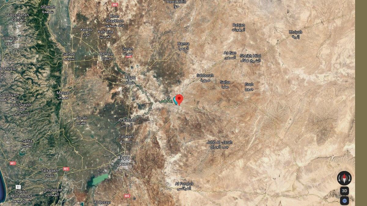 Χάρτης της Συρίας- Αλ Σαλαμία/Χομς
