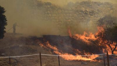 Πυρκαγιά στον αρχαιολογικό χώρο των Μυκηνών 30/08/2020