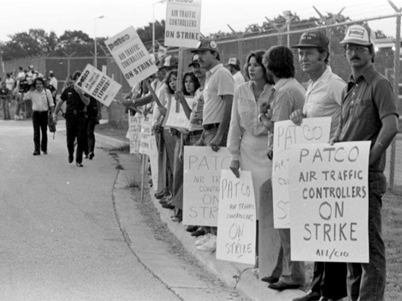 Οι ελεγκτές εναέριας κυκλοφορίας των ΗΠΑ σε απεργία το 1981