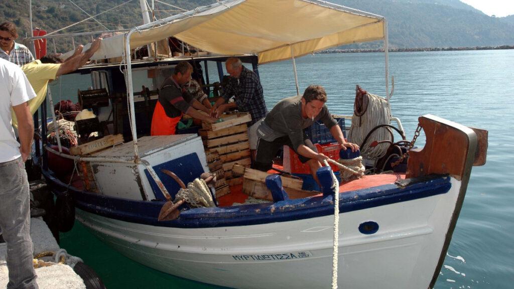 Ψαράδες στη Σκόπελο - Καΐκι