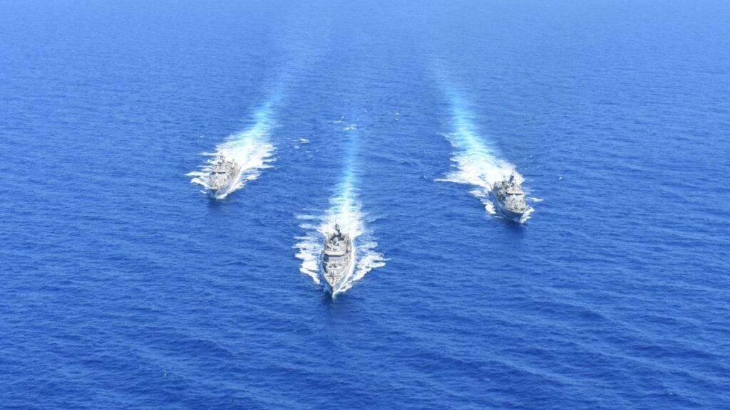 Πλοία - Φρεγάτες - Άσκηση του Πολεμικού Ναυτικού νότια της Κρήτης 25/8/2020