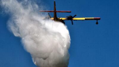 πυρκαγιά στις Κεχριές Κορινθίας 10-7-2020 - Καναντέρ σε ρίψη - Πυροσβεστική