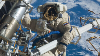 Κοσμοναύτης Αντών Σκαπλέροφ της Roscosmos, της ομοσπονδιακής διαστημικής υπηρεσίας της Ρωσίας
