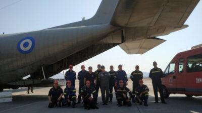 Η 1η ΕΜΑΚ στην Ελευσίνα πριν αναχωρήσει για Βηρυτό, Λίβανο, με C-130 της Πολεμικής Αεροπορίας 5-8-2020