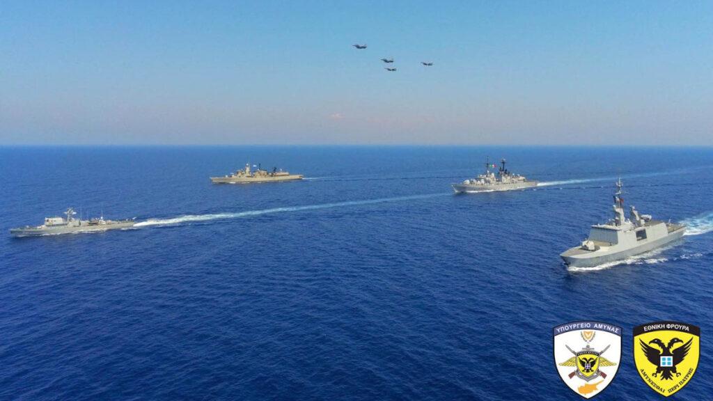 Αεροναυτική άσκηση «EUNOMIA» στην Κύπρο με τη συμμετοχή Κύπρου, Γαλλίας, Ιταλίας κι Ελλάδας 27/8/2020 - Επικεφαλής σχηματισμού ΠΑΘ Ιωαννίδης / Πηγή: Υπουργείου Άμυνας Κύπρου