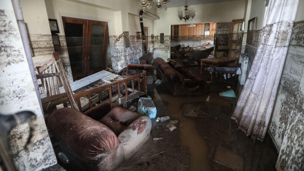 Φωτογραφία από τις καταστροφικές πλημμύρες στην Εύβοια 9/8/2020