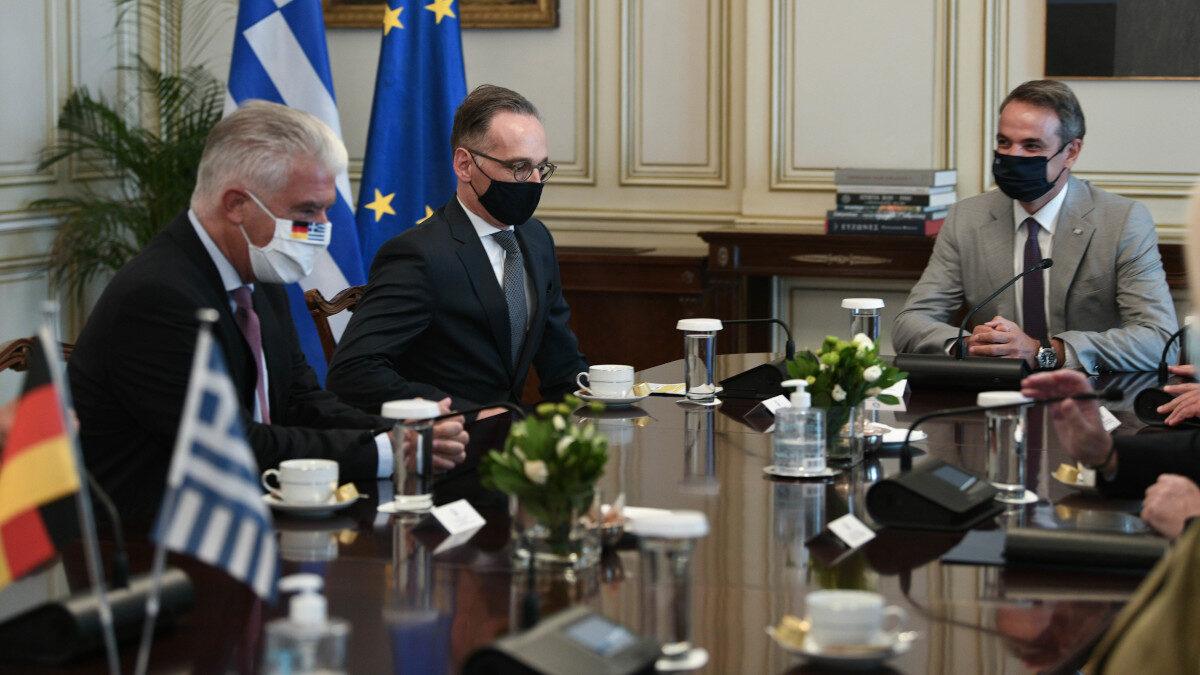 Συνάντηση Χ. Μάας, Υπουργού Εξωτερικών Γερμανίας με το Πρωθυπουργό Κ. Μητσοτάκη - 25/8/2020