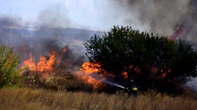 Πυρκαγιά στο Μοναστηράκι Αργολίδας