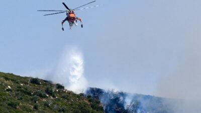 Ελικόπτερο - Πυρκαγιά σε Άνω Καλλιθέα Αχαΐας - 25/8/2020