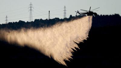 Πυροσβεστική - Ελικόπτερο - Κατάσβεση πυρκαγιάς στη Νίκαια - 11/8/2020