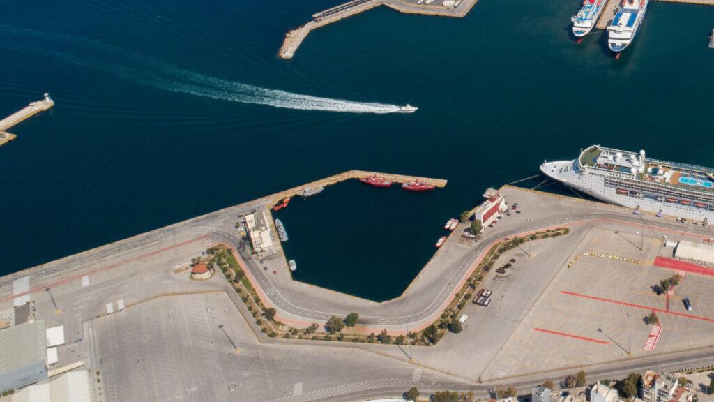 Αεροφωτογραφία Πυροσβεστικός Σταθμός Λιμένα Πειραιά