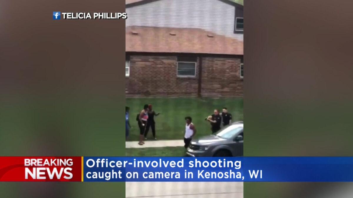 Κενόουσα, του Ουινσκόνσιν των ΗΠΑ / Πυροβολισμός πισώπλατα αφροαμερικανού από Αστυνομικούς - Στιγμιότυπο από το βίντεο του πυροβολισμού (Πηγή: CBS Minessota)