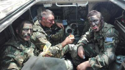 Στρατιώτες ΕΛΔΥΚ σε άσκηση στην Κύπρο