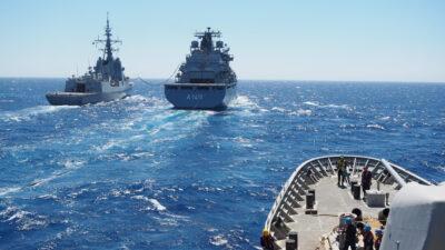 Συνεκπαίδευση μονάδων του Πολεμικού Ναυτικού με την SNMG2