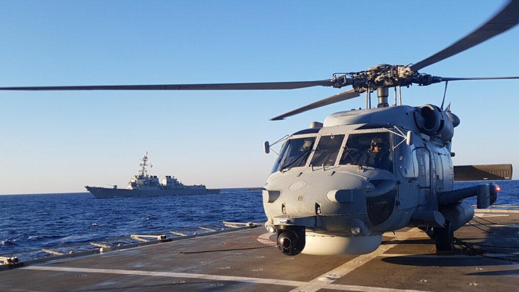 Συνεκπαίδευση μονάδων του Πολεμικού Ναυτικού με το αμερικανικό Αντιτορπιλικό USS WINSTON S. CHURCHILL - 24/8/2020 / Πηγή : Πολεμικό Ναυτικό
