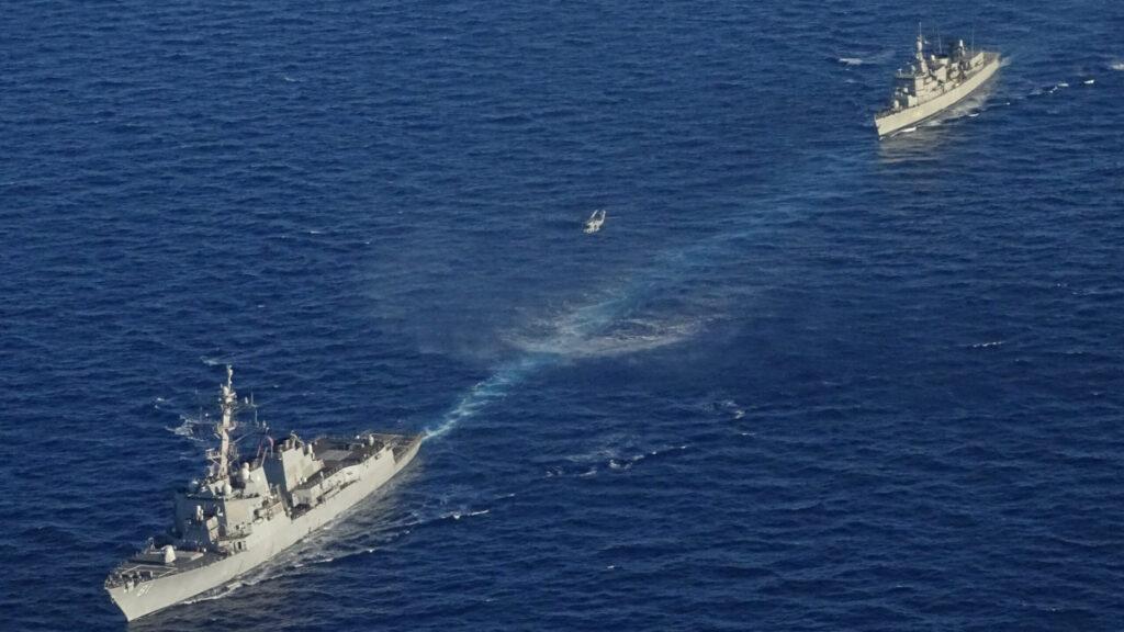 Συνεκπαίδευση μονάδων του Πολεμικού Ναυτικού και της Πολεμικής Αεροπορίας με το αμερικανικό Αντιτορπιλικό USS WINSTON S. CHURCHILL - 24/8/2020 / Πηγή : Πολεμικό Ναυτικό