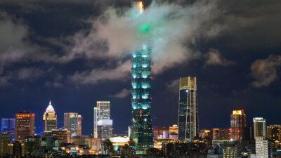 Βραδυνή εικόνα της Τάιπέι - Ταϊβάν