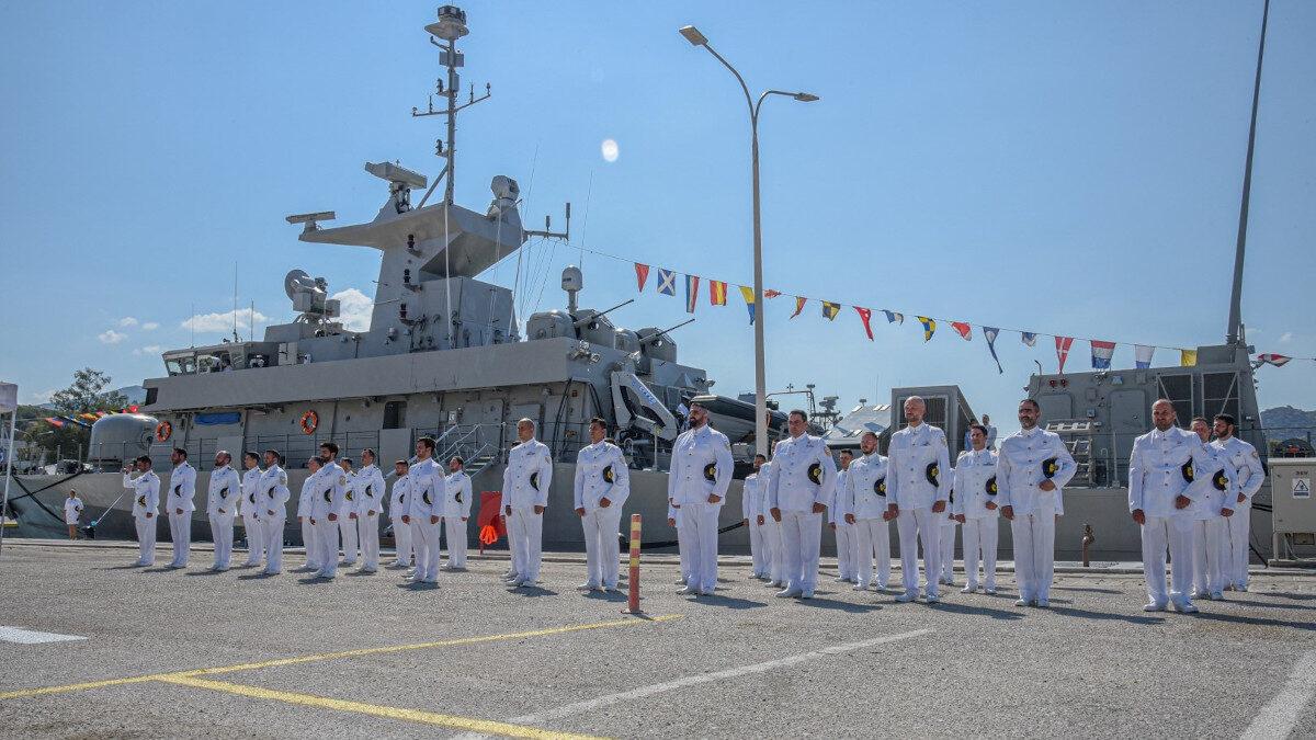 """Διοίκηση Ταχέων Σκαφών - Τελετή ονομοταδοσίας κι ένταξης στο Πολεμικό Ναυτικό της Τορπιλακάτου """"Υποπλοίαρχος ΚΑΡΑΘΑΝΑΣΗΣ"""" (P78) / Πηγή: ΓΕΝ"""