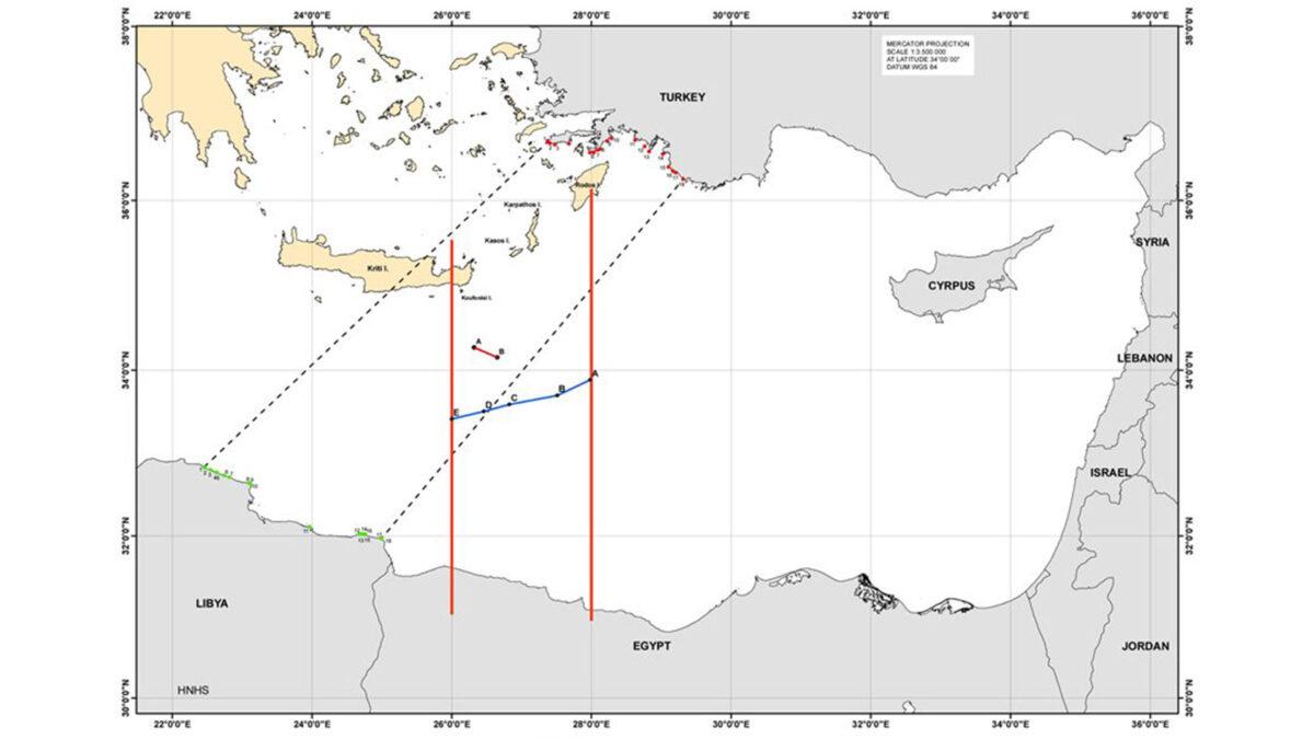 χάρτης -ΑΟΖ- Ελλάδα Αίγυπτος