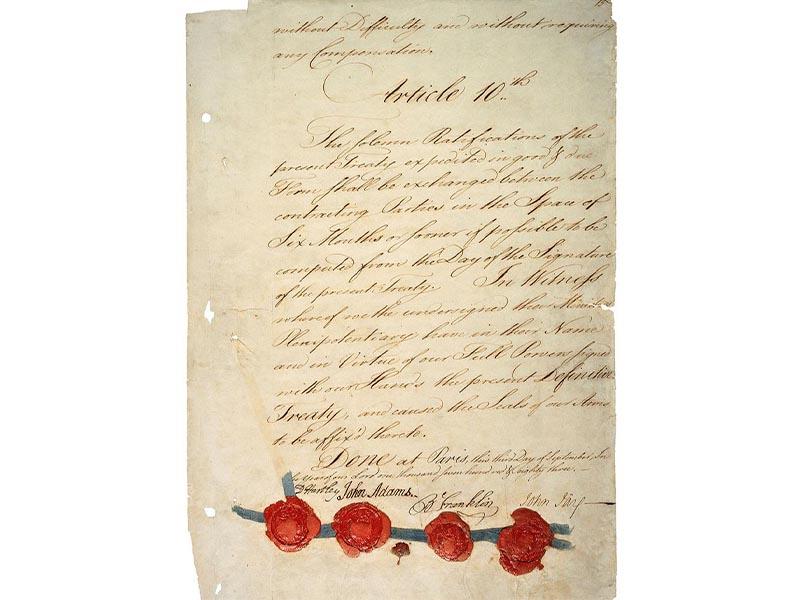 Η συνθήκη του Παρισιού 1783