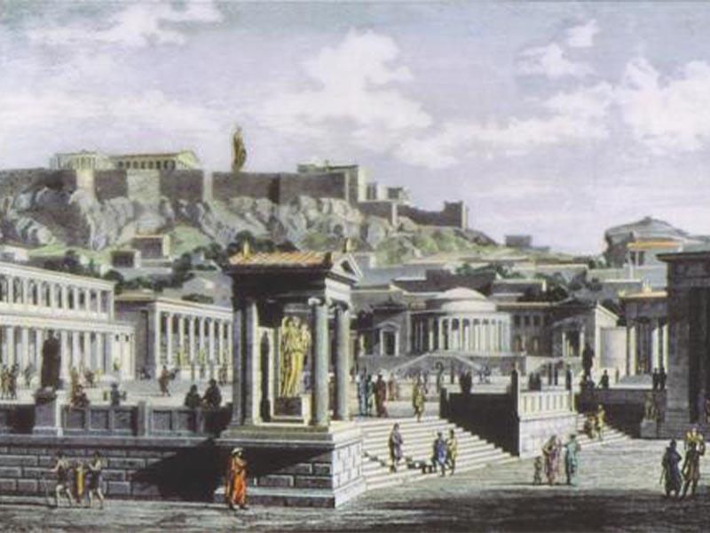 Πίνακας που αναπαριστά της Αρχαία Αγορά της Αθήνας