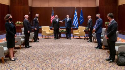 Από τη συνάντηση του Ν. Δένδια με τον Αμερικανό ομόλγό του Μ. Πομπέο