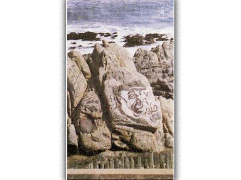 Στην παραλία μπροστά από το σπίτι του, στην Ισλα Νέγκρα, οι βράχοι έχουν χαραγμένη τη μορφή του, το σήμα της ισότητας και αφιερώσεις