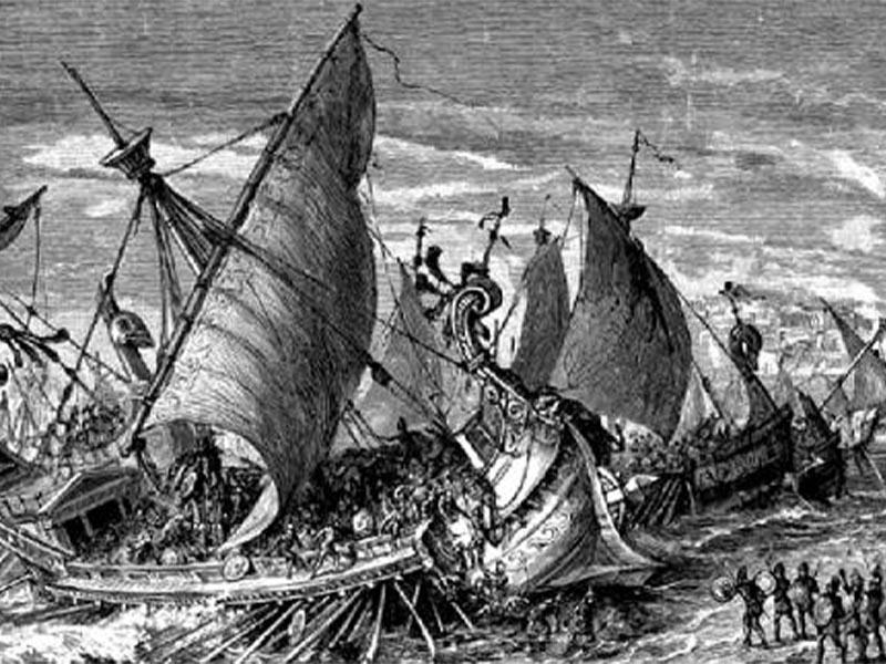 Αναπαράσταση της ναυμαχίας στις Συρακούσες
