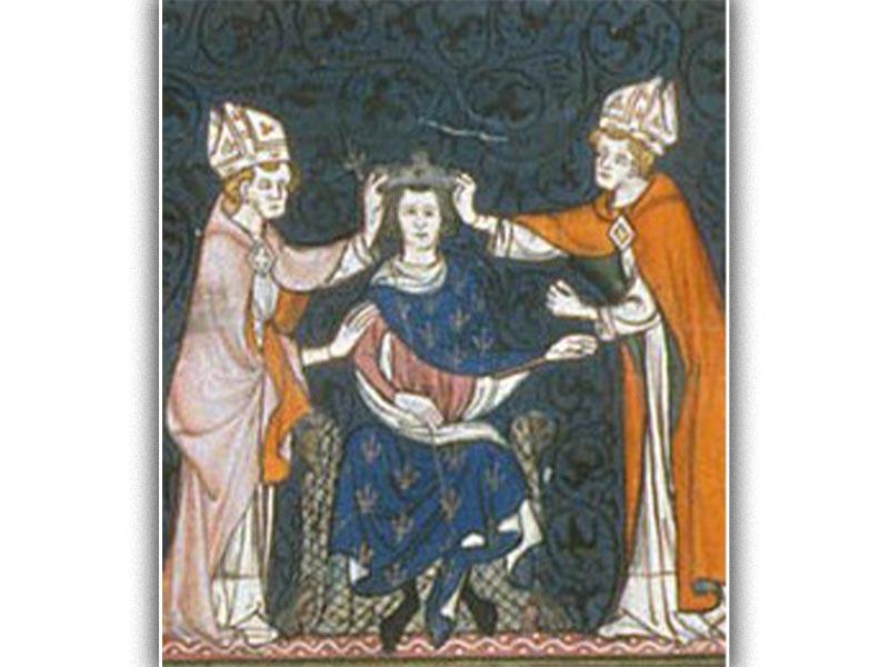 Η στέψη του Λουδοβίκου του Τραυλού