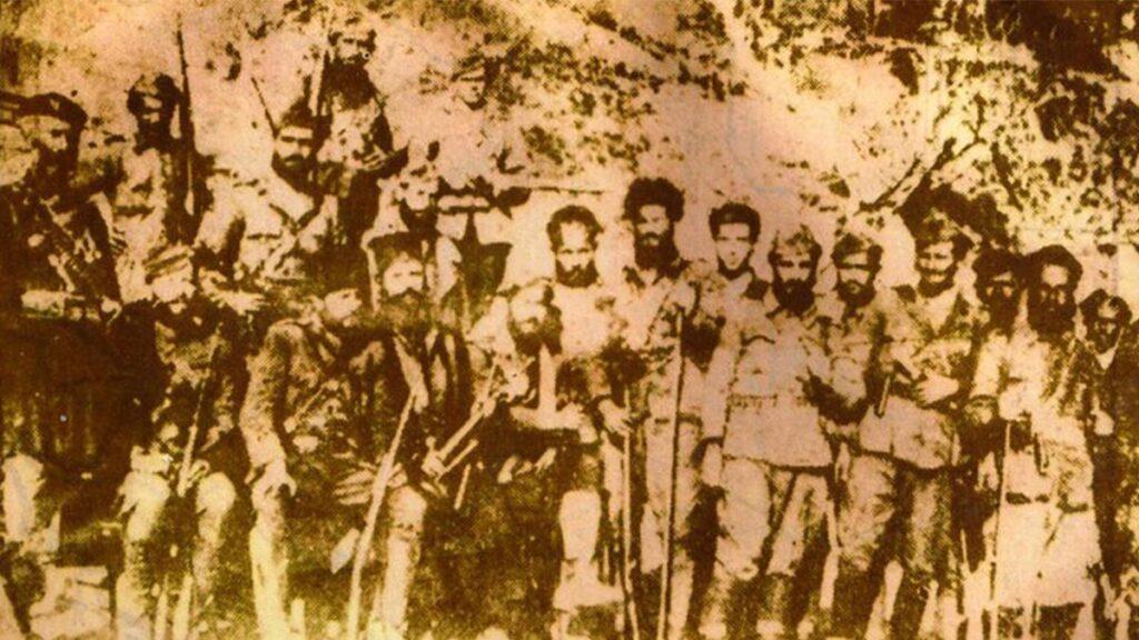 Άνδρες του ΕΛΑΣ στη Ναύπακτο