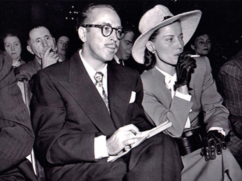 Ο Ντάλτον Τράμπο με την σύζυγό του Κλειώ